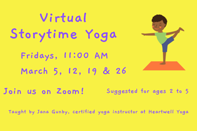 Virtual Storytime Yoga in March